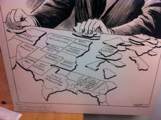 new office art or 1933 pro roosevelt editorial cartoons support