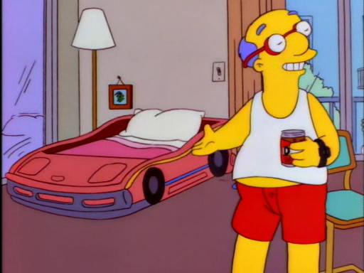 Kirk Van Houten Race Car Bed